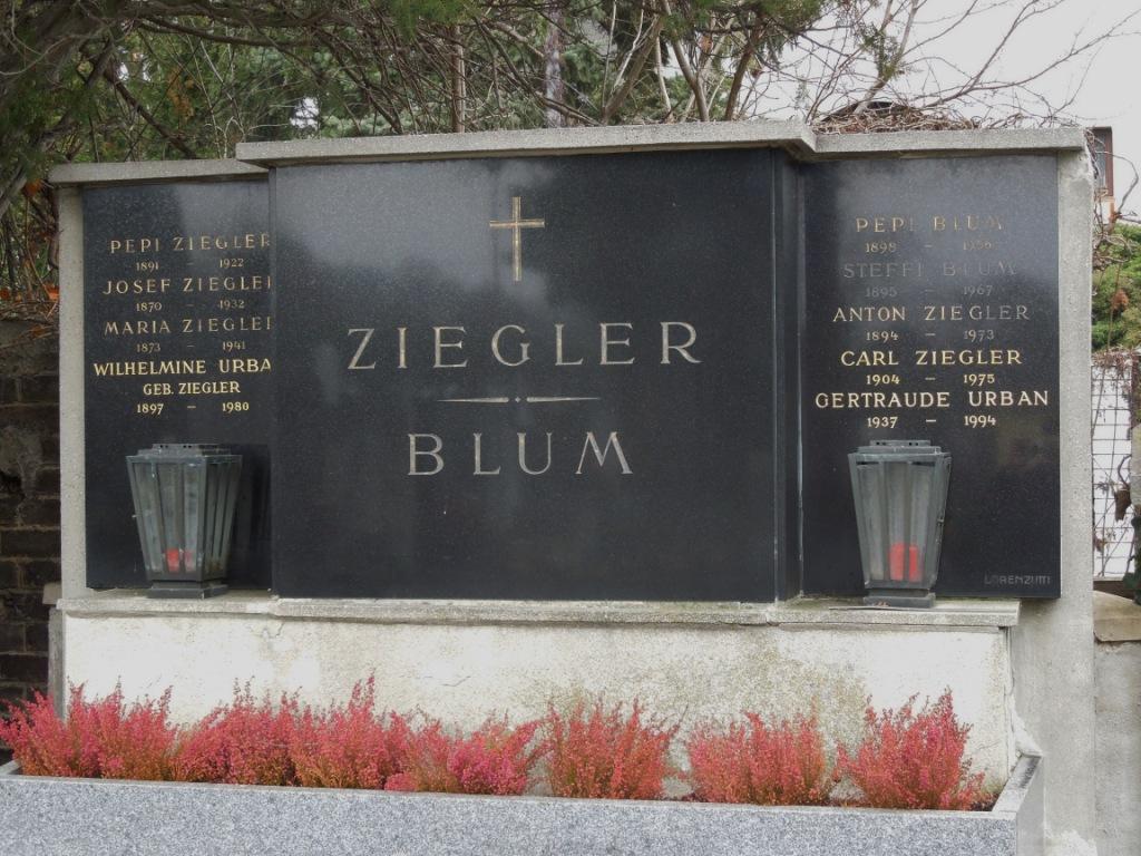 Blum Josef Grab Pfarrfriedhof Nussdorf