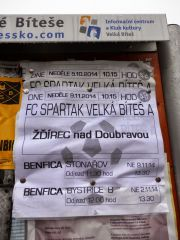 FC Spartak Velka Bites - SK Tatran Zdirec nad Doubravou 1:4