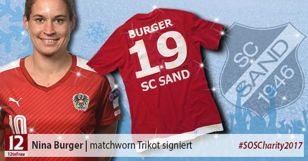 Signiertes matchworn Trikot von Nina Burger (SC Sand)