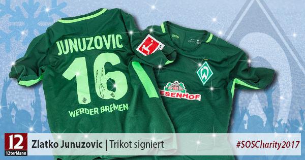 Signiertes Trikot von Zlatko Junuzovic (SV Werder Bremen)
