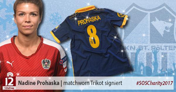 Signiertes matchworn Trikot von Nadine Prohaska (SKN St. Pölten Frauen)
