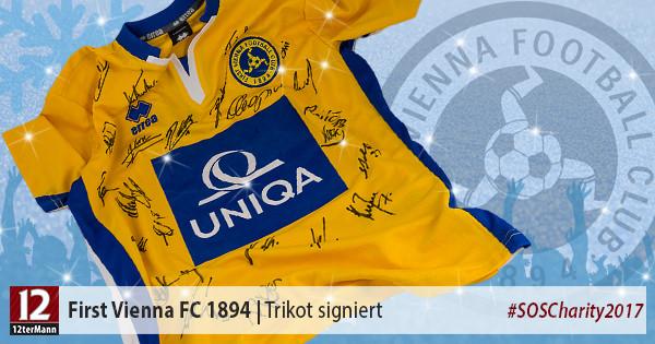 Von der gesamten Mannschaft signiertes Trikot des First Vienna FC