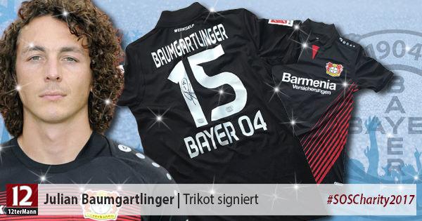 Signiertes Trikot vonJulian Baumgartlinger(Bayer 04 Leverkusen)