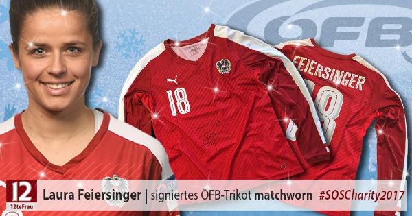 Signiertes matchworn ÖFB-Teamtrikot vomLaura Feiersinger(Frauen-Nationalteam)