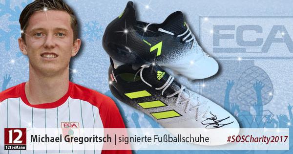 Signierte Fußballschuhe vonMichael Gregoritsch(FC Augsburg)