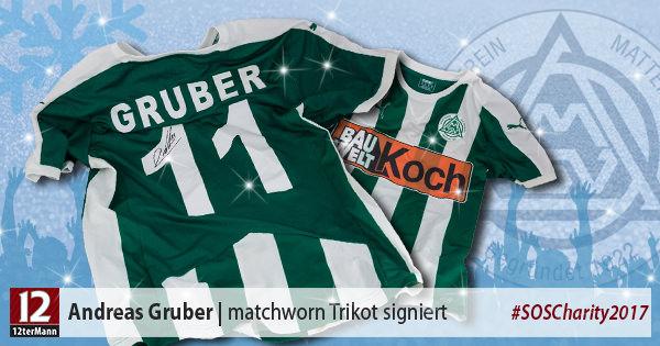 Signiertes matchworn Trikot vonAndreas Gruber(SV Mattersburg)