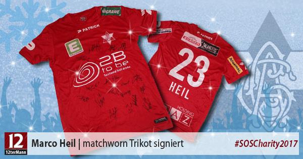 Matchworn Trikot vonMarco Heil(Grazer AK, von der gesamten Mannschaft signiert)