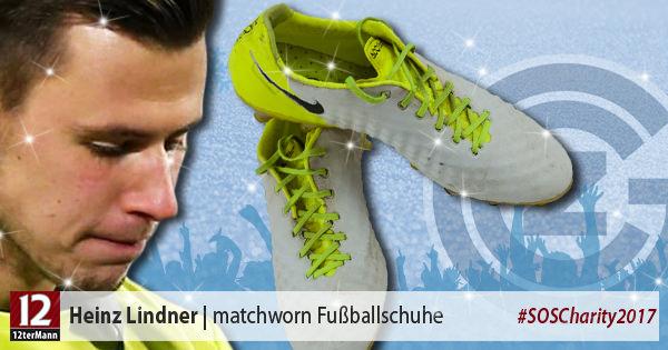 MatchwornFußballschuhe vonHeinz Lindner(Grasshoppers Club Zürich)