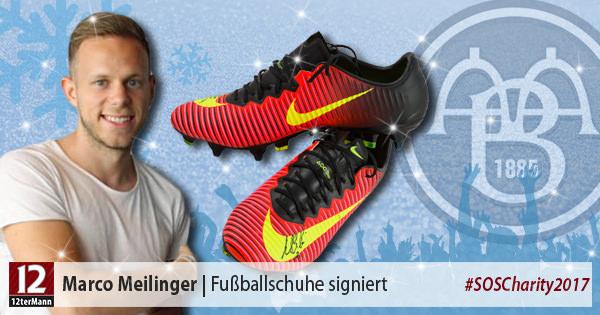 Signierte Fußballschuhe vonMarco Meilinger(Aalborg BK)