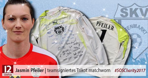Teamsigniertes matchworn Trikot vonJasmin Pfeiler(SKV Altenmarkt)