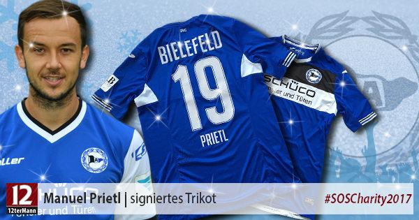 Signiertes Trikot vonManuel Prietl(Arminia Bielefeld)