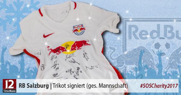 Teamsigniertes Trikot vonRB Salzburg