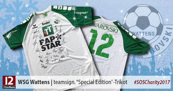"""Teamsigniertes """"Special-Edition""""-Trikot #12 vonJWSG Wattens"""