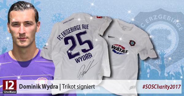 Signiertes Trikot vonDominik Wydra(Erzgebirge Aue)