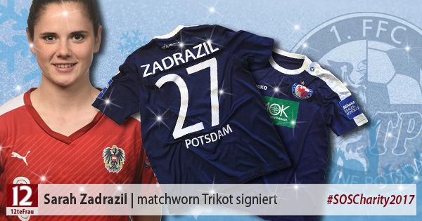 Signiertes matchworn Trikot vonSarah Zadrazil(Turbine Potsdam)