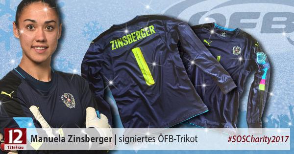 Signiertes ÖFB-Teamtrikot vonManuela Zinsberger(ÖFB Frauen-Nationalteam)